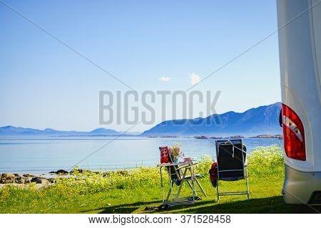 Camper On Lofoten, 17 July 2018, Norway
