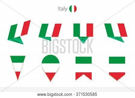 Italy National Flag Collection, Eight Versions Of Italy Vector Flags. Vector Illustration.