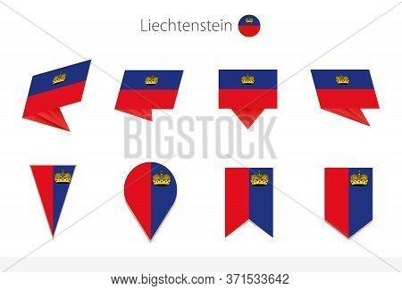 Liechtenstein National Flag Collection, Eight Versions Of Liechtenstein Vector Flags. Vector Illustr