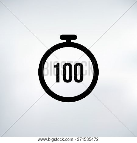 100 Seconds Countdown Timer Icon Set. Time Interval Icons. Stopwatch And Time Measurement. Stock Vec
