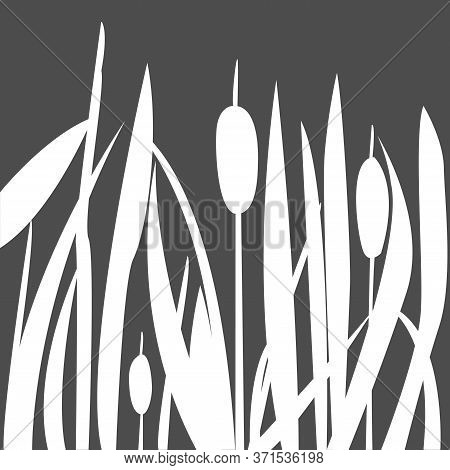 Reed Abstract Seamless Pattern. Modern Digital Design.