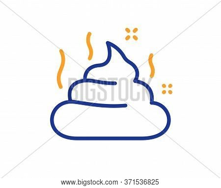 Feces Line Icon. Pets Excrement Sign. Poop Or Turd Symbol. Colorful Thin Line Outline Concept. Linea