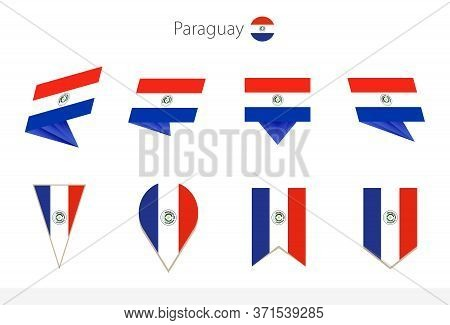 Paraguay National Flag Collection, Eight Versions Of Paraguay Vector Flags. Vector Illustration.