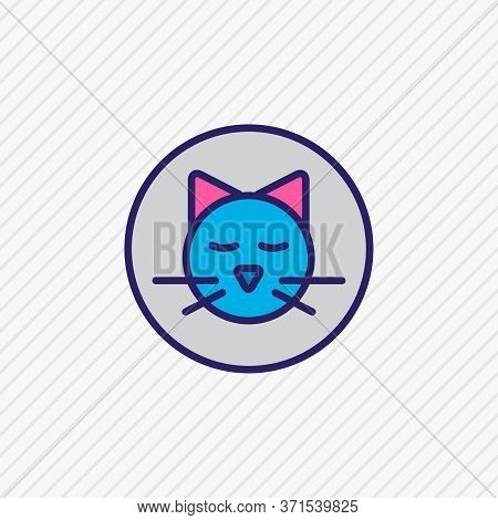 Vector Illustration Of Pet Allowed Icon Colored Line. Beautiful Hotel Element Also Can Be Used As Ki
