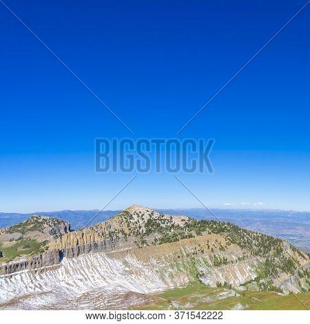 Square Crop Summit Of Mount Timpanogos, Utah, Usa Day Light