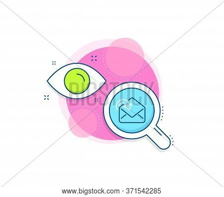 Incoming Messages Correspondence Sign. Research Complex Icon. Receive Mail Download Line Icon. E-mai