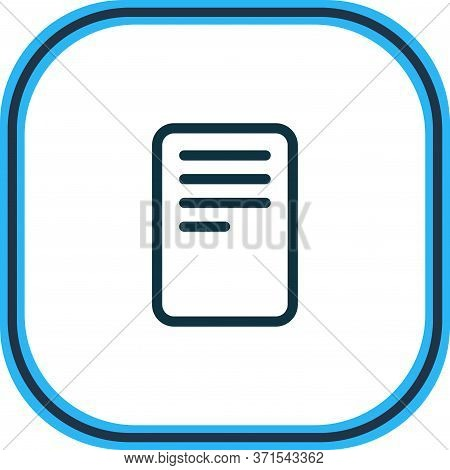 Illustration Of File Icon Line. Beautiful Bureau Element Also Can Be Used As Data Icon Element.
