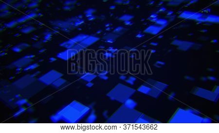 3d Rendering Of Technology And Data Processing. Computer Generated Modern Information Background