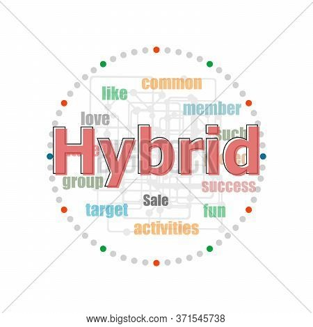 Text Hybrid. Business Concept . Word Collage With Different Association Terms