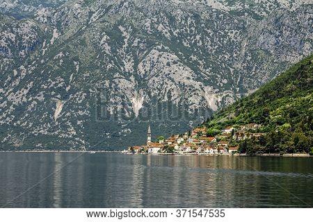 Perast.montenegro.02 June 2015.perast Town In Kotor Bay In Summer Sunny Day.