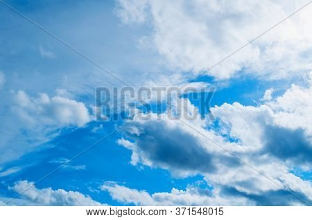 Dramatic blue sky background, vast sky landscape panoramic scene. Sky scene, blue sky background. Sky nature view, vast sky nature scene. Sky background