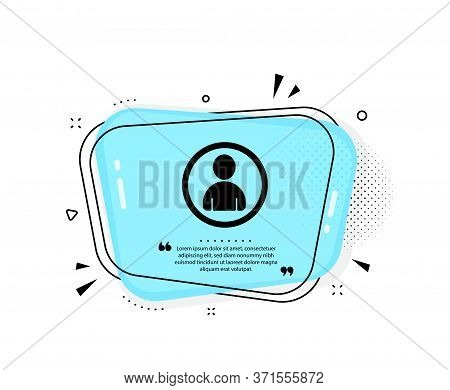 User Icon. Quote Speech Bubble. Profile Avatar Sign. Person Silhouette Symbol. Quotation Marks. Clas