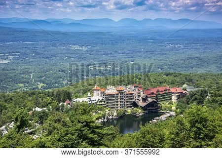Scenic View Of Mohonk Mountain House From Skytop, In Upstate New York