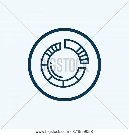 Pie Chart Icon Isolated On White Background From Multimedia Collection. Pie Chart Icon Trendy And Mo