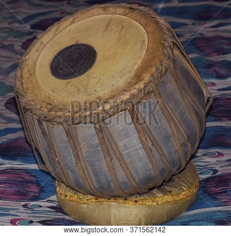 Left Part Of Tabla Musical Instrument. It Is Mostly Made Up Of Metal And Also Called As Baya In Hind