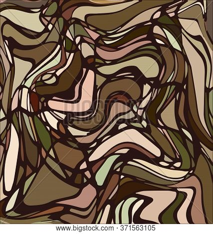 Colored Background Image Abstract Ornament Lines Beige And Brown