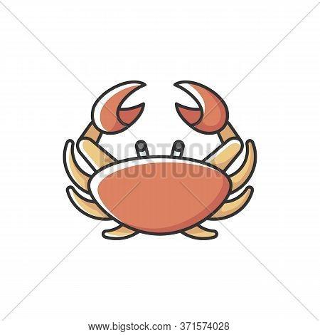Cancer Zodiac Sign Rgb Color Icon. Astrological Crab. Horoscope Birth Sign. Tropical Crustacean, Sea