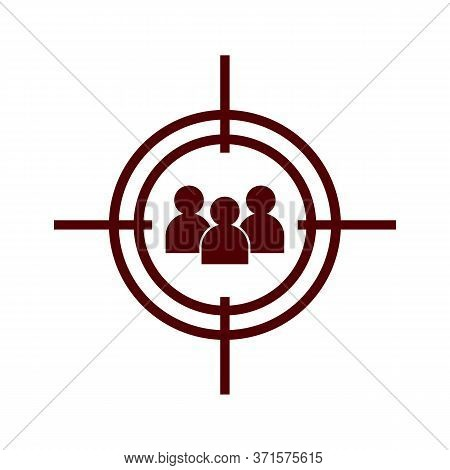 Vector Illustration Of Seo Marketing And Advertising Icon On Audience Targeting In Trendy Flat Style