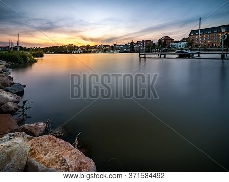 Sunset In The Port Of Leer On The Leda