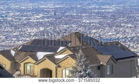 Panorama Luxury Homes With View Of The Vast Residential Valley And Wasatch Mountains