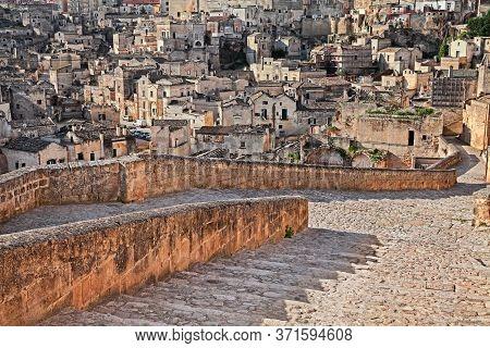 Matera, Basilicata, Italy: View Of The Old Town Called Sassi Di Matera, City European Capital Of Cul