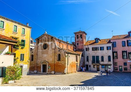 Venice, Italy, September 13, 2019: Chiesa San Zan Degola Or San Giovanni Decollato Russian Orthodox