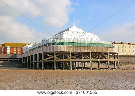 Burnham On Sea Pier And Esplanade, Somerset From The Beach