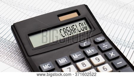 A Calculator With The Word Cashflow On The Display