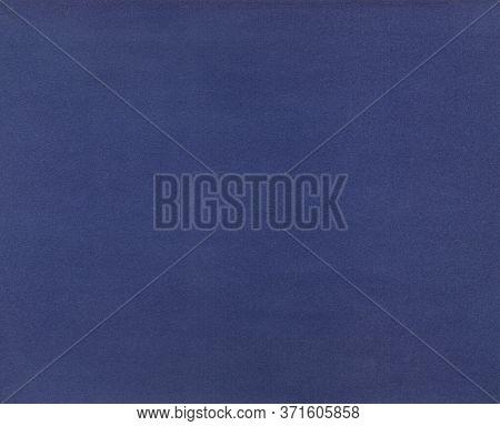 Blue Background. Velvet Fleecy Paper Texture. Closeup