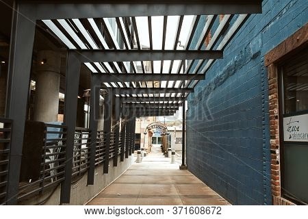 Boulder, Colorado - May 27th, 2020:  Corridor Connecting Pearl Street Mall To Walnut Street In Bould