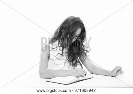 Personal Diary. Desire To Study. Business Coach. Smart Teacher Isolated On White. Student Courses. B