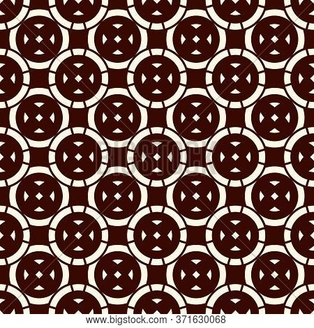 Ethnic, Tribal Wallpaper. Repeated Segmented Circles Seamless Pattern. Openwork Ornament. Delicate O