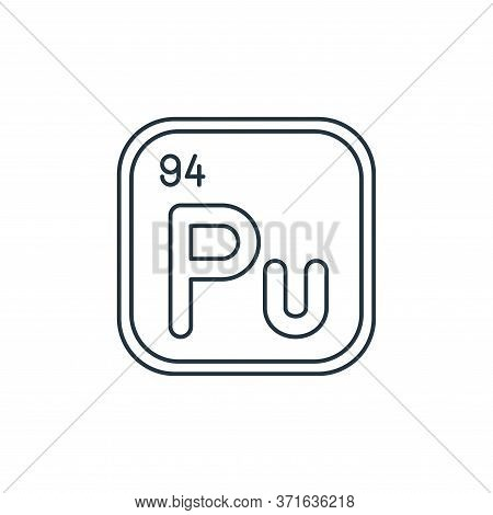 Plutonium Vector Icon Isolated On White Background.