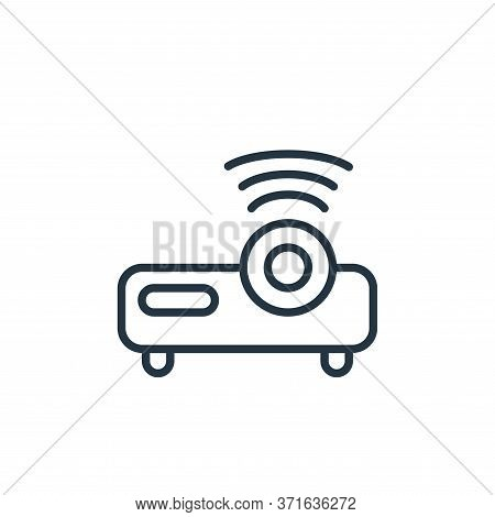 projector icon isolated on white background from  collection. projector icon trendy and modern proje