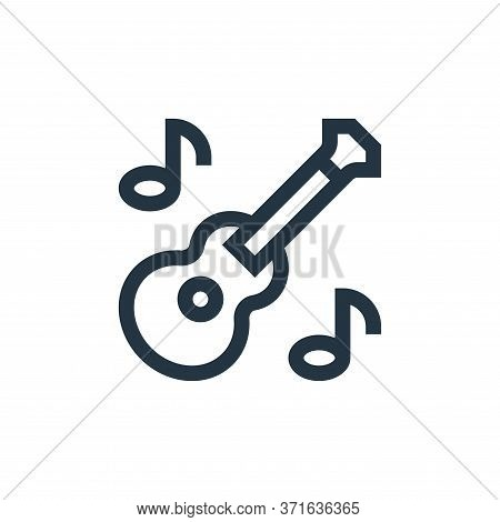 guitar icon isolated on white background from  collection. guitar icon trendy and modern guitar symb