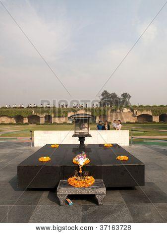Raj Ghat - Mahatma Gandhi Crematorium Site.