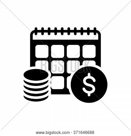 Black Solid Icon For Annuity Annuities  Financial Revenue Currency Exchange Yearly