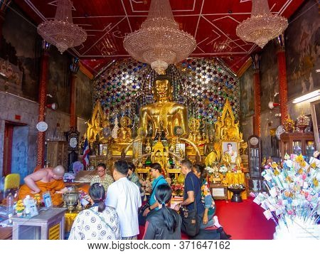Chiang Mai Thailand-12 January 2020:wat Phra That Doi Suthep Temple The Temple Is 689 Meters High Fr