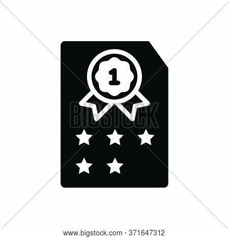 Black Solid Icon For Rank Class Category Grade  Satisfaction Result Quality Achievement
