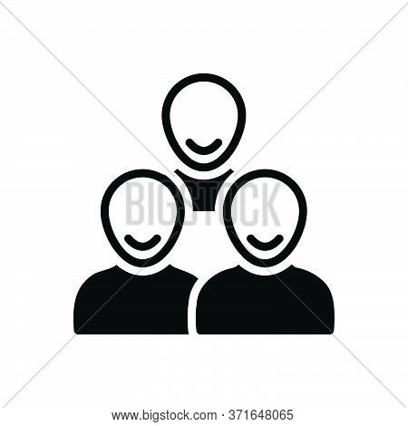 Black Solid Icon For Customers Clients People Group Subscriber Clientele Purchaser Underwriter