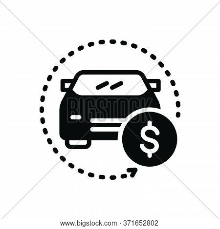 Black Solid Icon For Auto-save Auto Save Money Insurance Vehicle Car Sale Transport