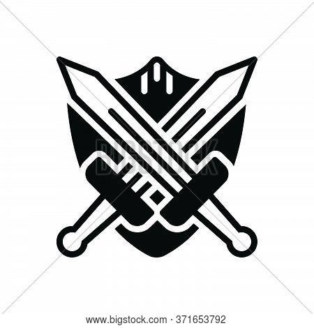 Black Solid Icon For Battle-gear Battle Gear Sword Weapon Tool  Broadsword