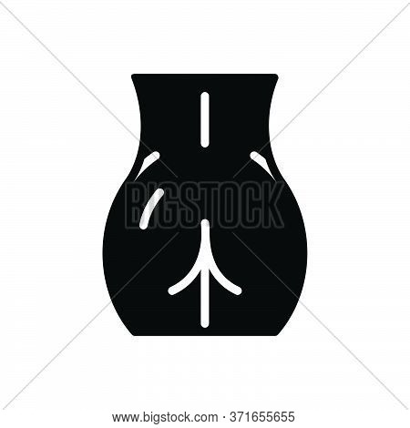 Black Solid Icon For Booty Body-part Anus Cellulite