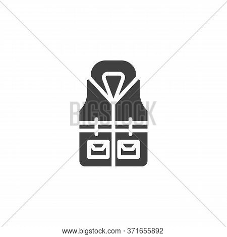 Life Jacket Vector Icon. Filled Flat Sign For Mobile Concept And Web Design. Safety Jacket Vest Glyp