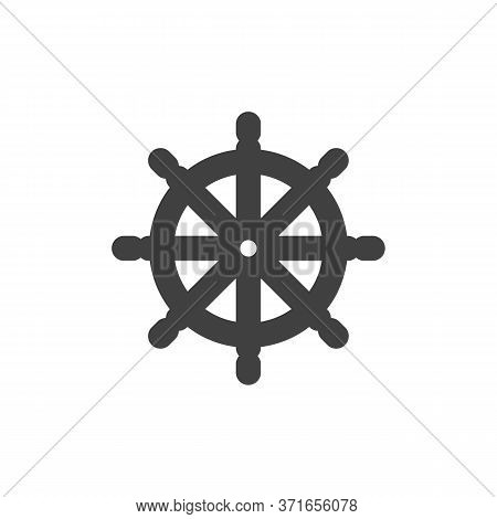 Ship Steering Wheel Vector Icon. Filled Flat Sign For Mobile Concept And Web Design. Boat Steering G