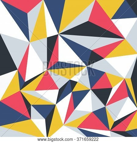 Vector Colorful Geometric Pattern. Trendy Vibrant Design - Bright Stylish Artistic Background With T