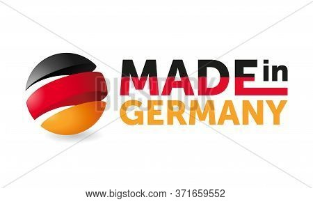 Made In Germany - Warranty And Quality Production Sticker With 3d German Flag - Black Red Green - Is