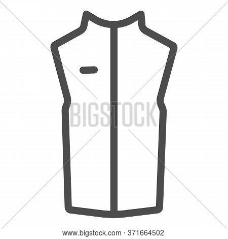 Sport Vest Line Icon, Outdoor Clothing Concept, Sleeveless Jacket Sign On White Background, Waistcoa