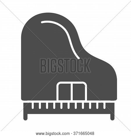 Piano Solid Icon, Music Instruments Concept, Synthesizer Sign On White Background, Grand Piano Icon