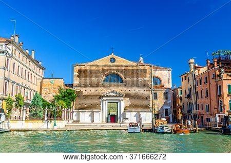 Chiesa Di San Marcuola Catholic Church Building In Cannaregio Sestiere From Grand Canal Waterway In